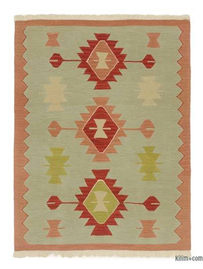 "New Handwoven Turkish Kilim Rug - 3' 1"" x 4'  (37 in. x 48 in.)"