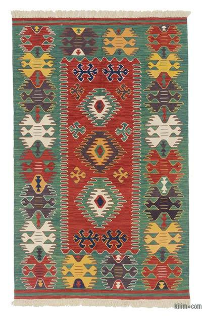 "New Handwoven Turkish Kilim Rug - 4'  x 6' 6"" (48 in. x 78 in.)"