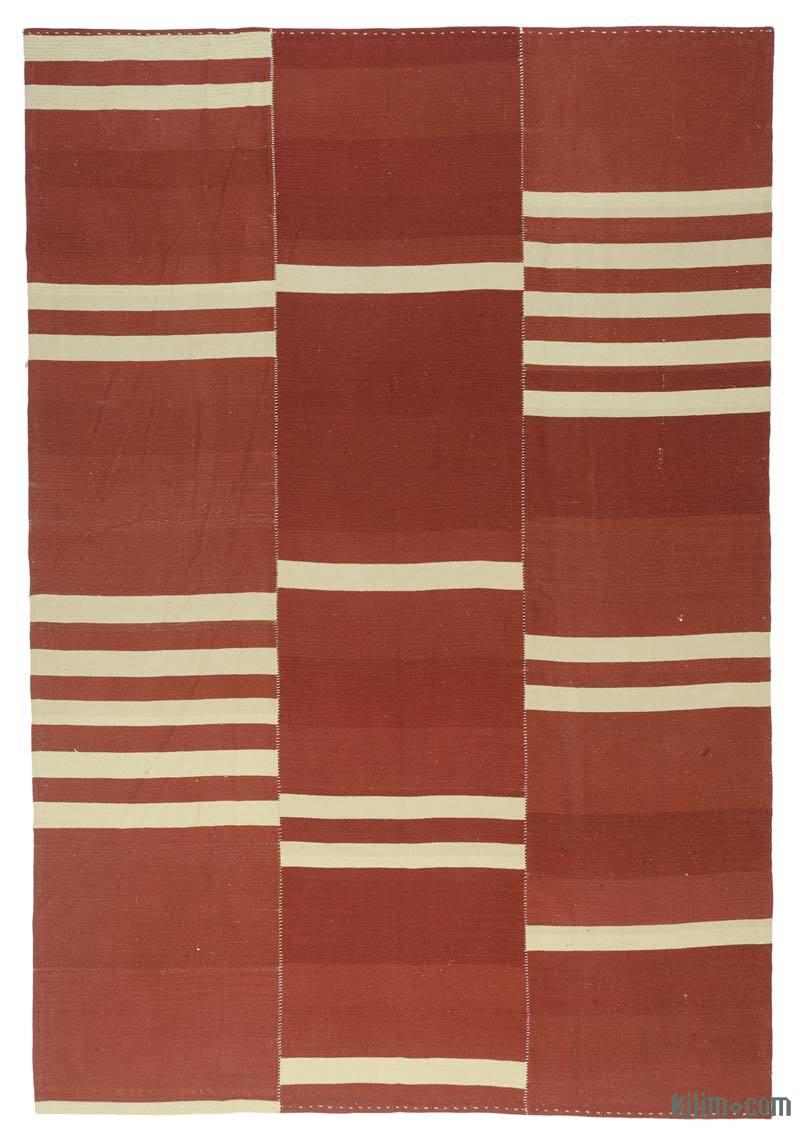 Rojo Nueva Alfombra Turca Kilim - K0043331