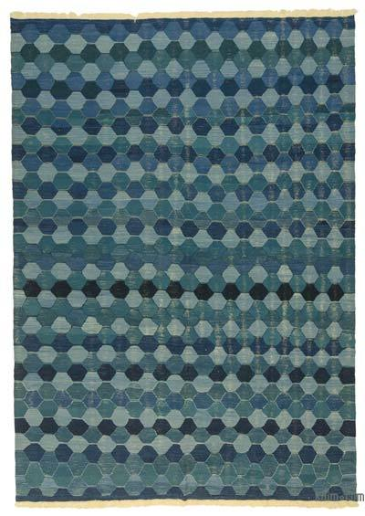 "New Handwoven Turkish Kilim Rug - 8'10"" x 12'8"" (106 in. x 152 in.)"