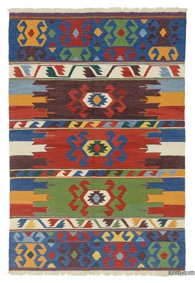 "New Handwoven Turkish Kilim Rug - 5'6"" x 8' (66 in. x 96 in.)"