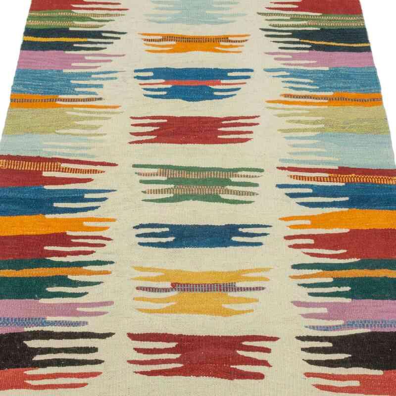Multicolor Nueva Alfombra Turca Kilim - K0043335