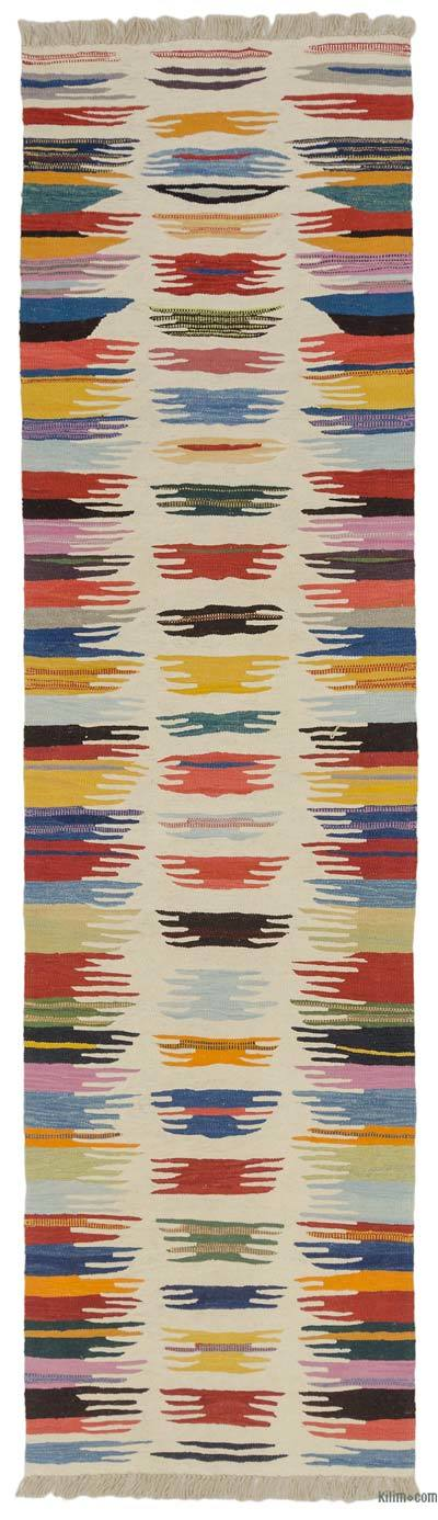 "Multicolor New Turkish Kilim Runner - 2' 9"" x 10' 2"" (33 in. x 122 in.)"