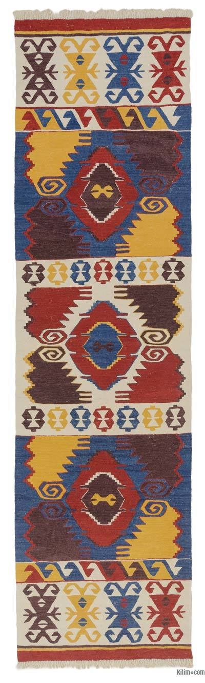 "New Turkish Kilim Runner - 2'9"" x 10'2"" (33 in. x 122 in.)"