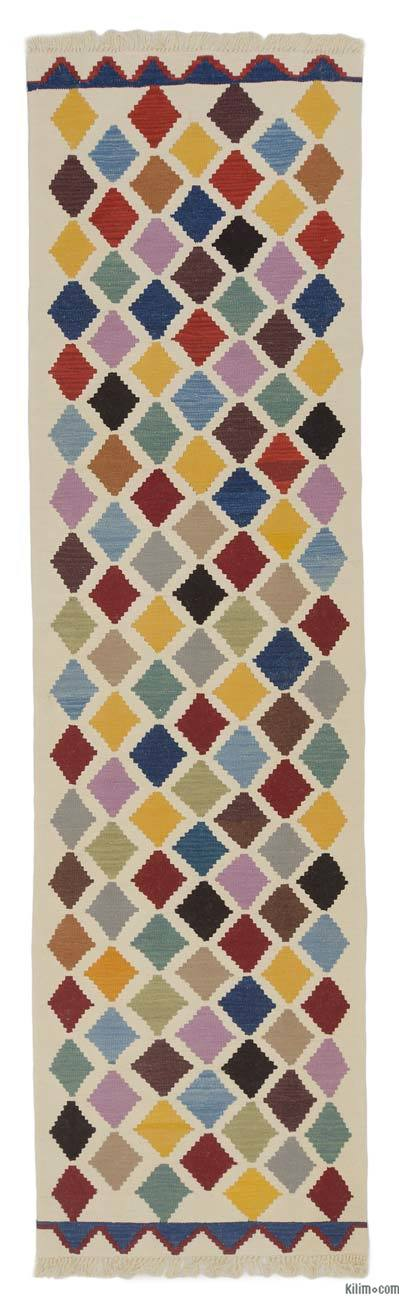 "New Turkish Kilim Runner - 2'9"" x 10'1"" (33 in. x 121 in.)"