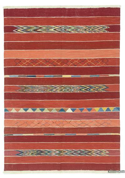 "New Handwoven Turkish Kilim Rug - 5'10"" x 8'4"" (70 in. x 100 in.)"