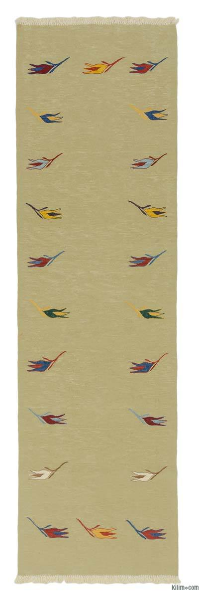 "New Turkish Kilim Runner - 2' 9"" x 9' 8"" (33 in. x 116 in.)"