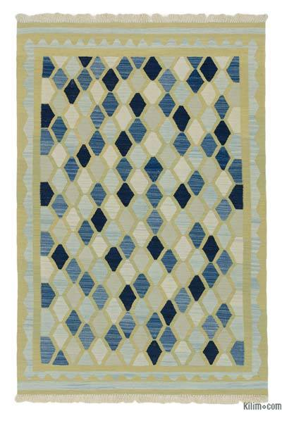 "New Handwoven Turkish Kilim Rug - 3'11"" x 5'10"" (47 in. x 70 in.)"