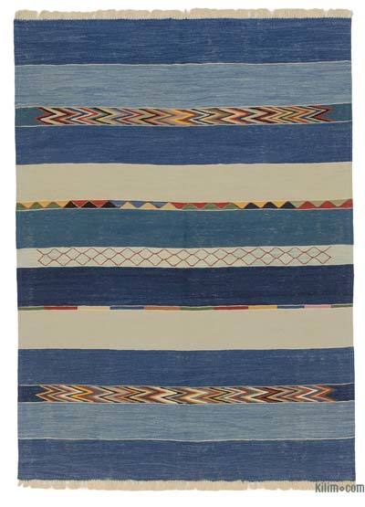 "New Handwoven Turkish Kilim Rug - 5' 1"" x 6' 11"" (61 in. x 83 in.)"