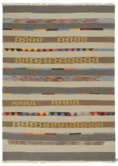 "New Handwoven Turkish Kilim Rug - 8'4"" x 11'6"" (100 in. x 138 in.)"