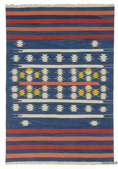 "New Handwoven Turkish Kilim Rug - 5' 11"" x 8' 6"" (71 in. x 102 in.)"