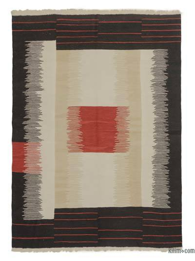 "New Handwoven Turkish Kilim Rug - 6'2"" x 8'4"" (74 in. x 100 in.)"
