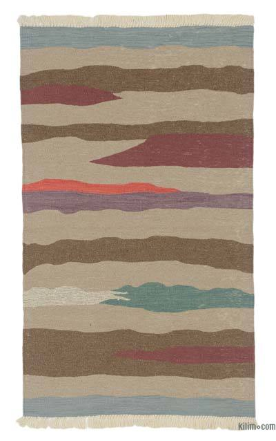"New Handwoven Turkish Kilim Rug - 3'  x 5' 1"" (36 in. x 61 in.)"