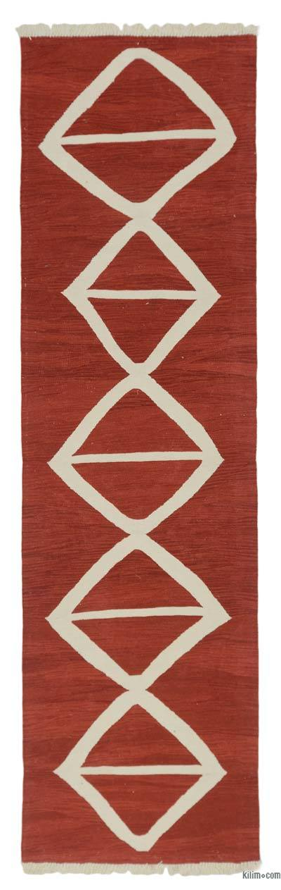 "New Turkish Kilim Runner - 2' 9"" x 9' 10"" (33 in. x 118 in.)"