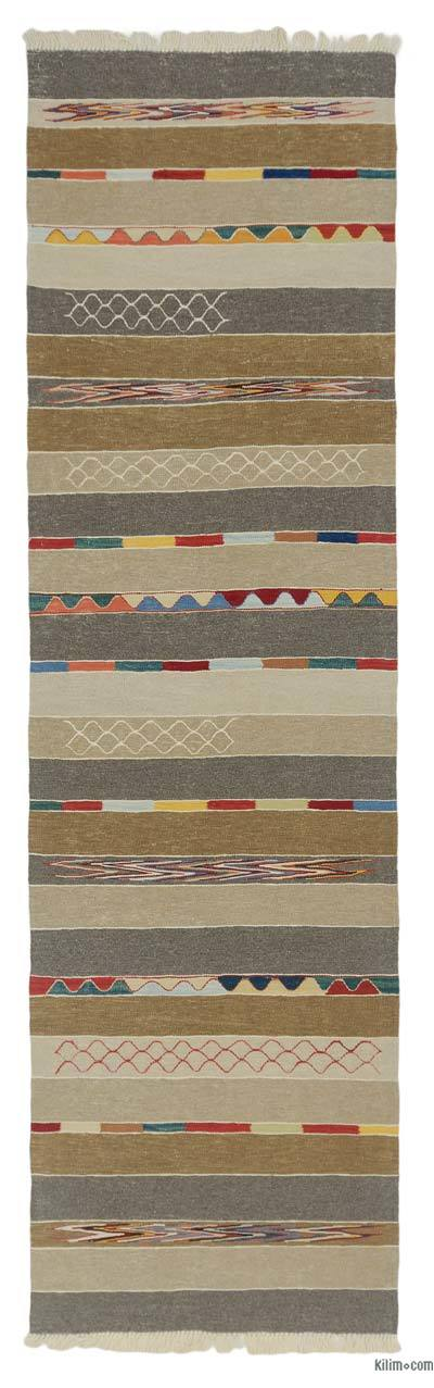 "New Turkish Kilim Runner - 2' 11"" x 10' 2"" (35 in. x 122 in.)"
