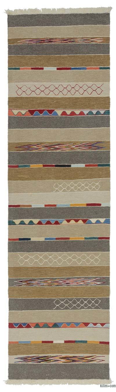 "New Turkish Kilim Runner - 2' 11"" x 10' 4"" (35 in. x 124 in.)"
