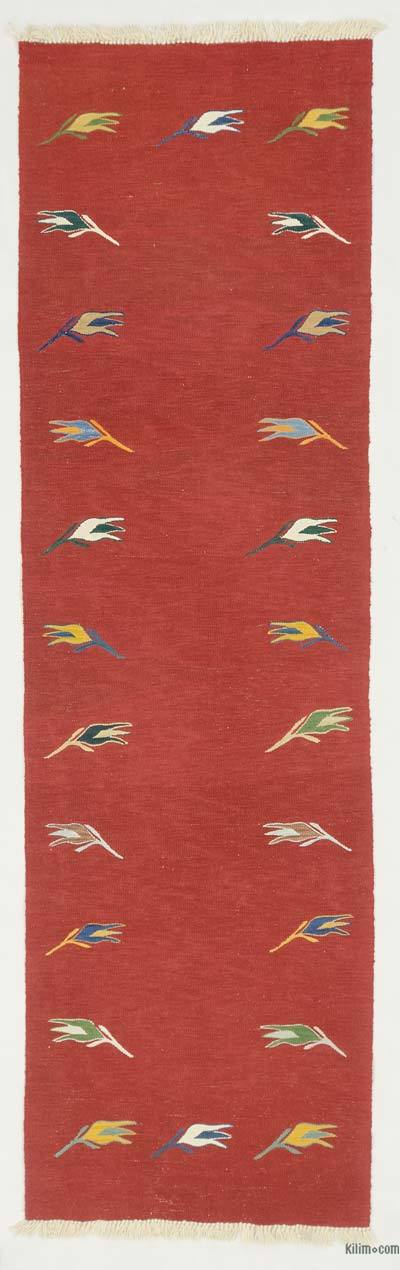 "New Turkish Kilim Runner - 2' 10"" x 9' 9"" (34 in. x 117 in.)"