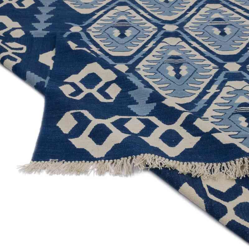 Lacivert Yeni Kök Boya El Dokuma Kilim - 185 cm x 242 cm - K0043363