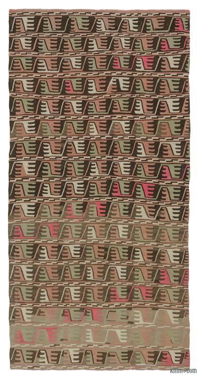 """Vintage Balikesir Kilim Rug - 6' 8"""" x 13' 3"""" (80 in. x 159 in.)"""