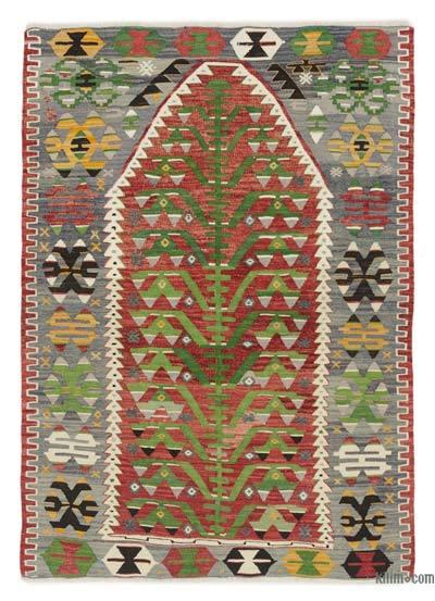 Multicolor Alfombra Vintage Esme Kilim  - 104 cm x 146 cm