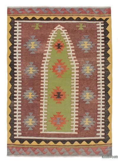 """Vintage Konya Kilim Rug - 2' 11"""" x 4' 3"""" (35 in. x 51 in.)"""