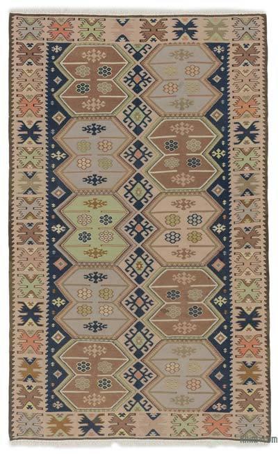 Çok Renkli Vintage Bulgar Kilimi - 130 cm x 212 cm