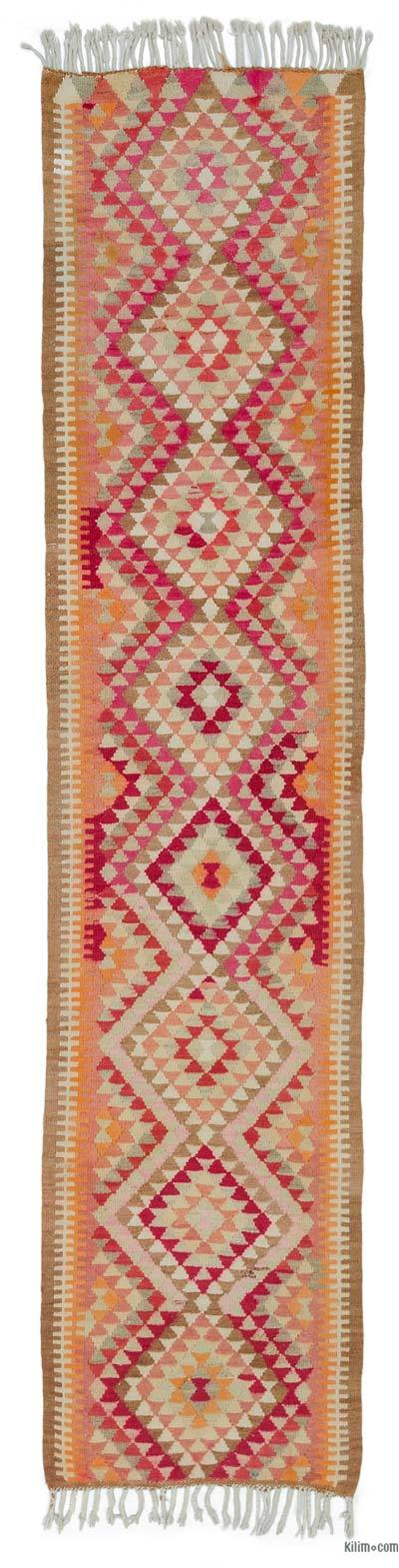 "Vintage Turkish Kilim Runner - 2'11"" x 13' (35 in. x 156 in.)"