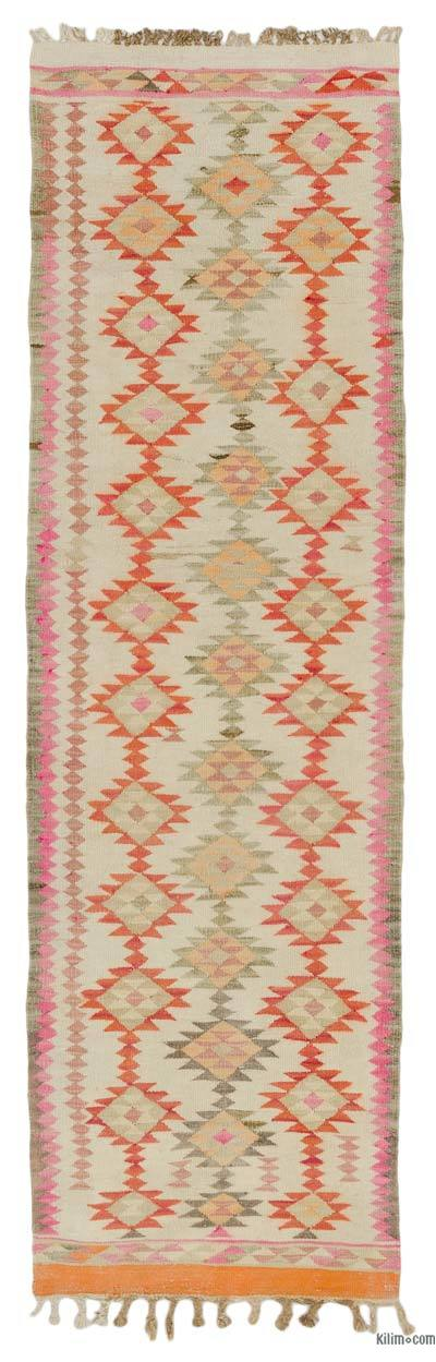 "Vintage Turkish Kilim Runner - 2' 6"" x 8' 4"" (30 in. x 100 in.)"