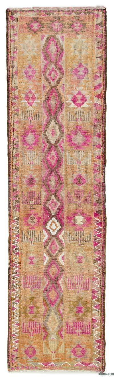 "Vintage Turkish Runner Rug - 2' 9"" x 9' 10"" (33 in. x 118 in.)"