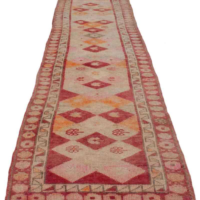 "Multicolor Vintage Turkish Runner Rug - 2' 9"" x 12' 10"" (33 in. x 154 in.) - K0043444"