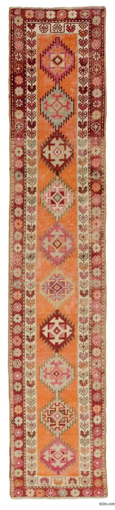 "Vintage Turkish Runner Rug - 2' 7"" x 12' 11"" (31 in. x 155 in.)"