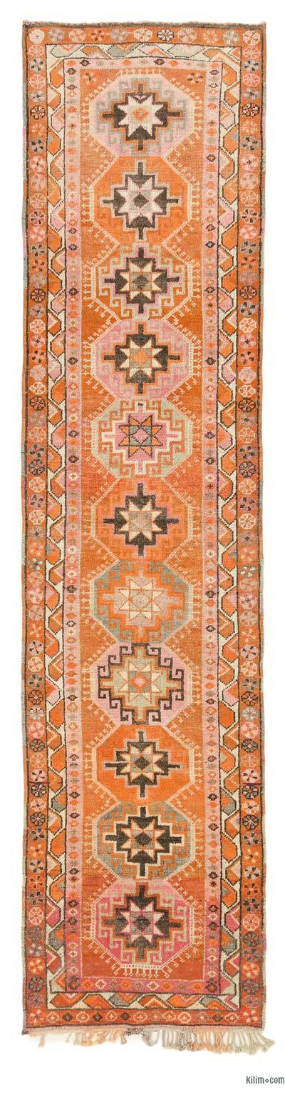 Alfombra Turca Vintage de pasillo - 92 cm x 379 cm