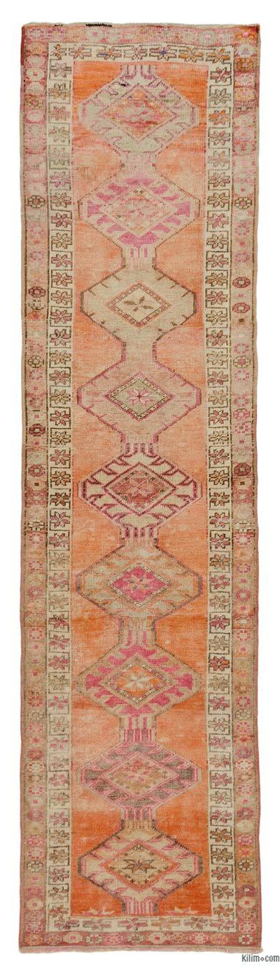 "Vintage Turkish Runner Rug - 3'  x 11' 5"" (36 in. x 137 in.)"