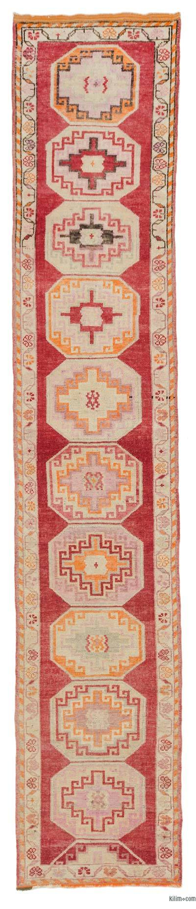 "Vintage Turkish Runner Rug - 2' 11"" x 15' 3"" (35 in. x 183 in.)"