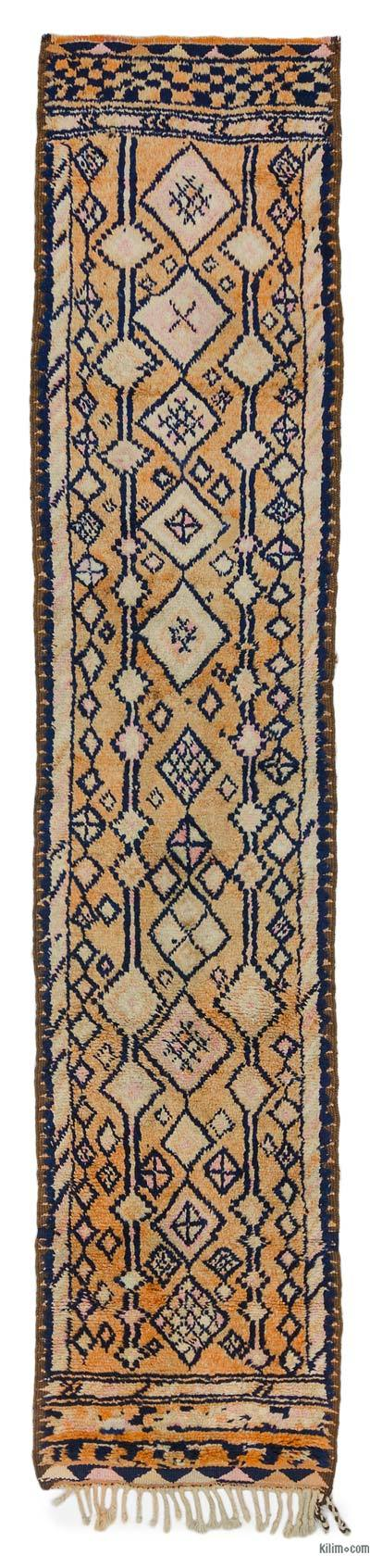 "Vintage Turkish Runner Rug - 2' 6"" x 11' 10"" (30 in. x 142 in.)"
