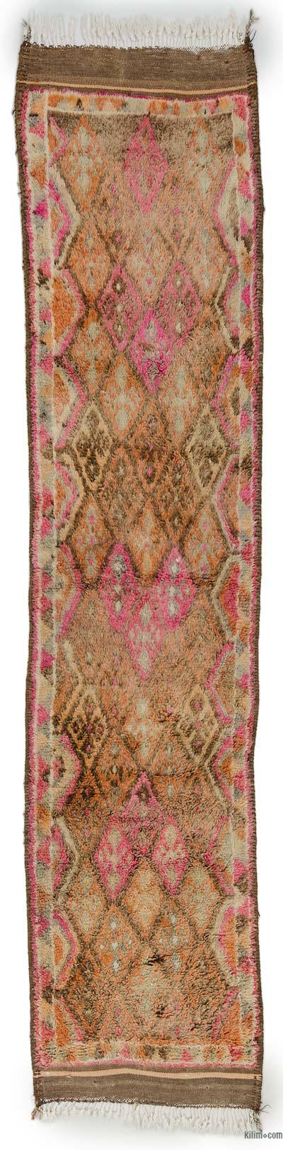 "Vintage Turkish Runner Rug - 2' 10"" x 12' 10"" (34 in. x 154 in.)"