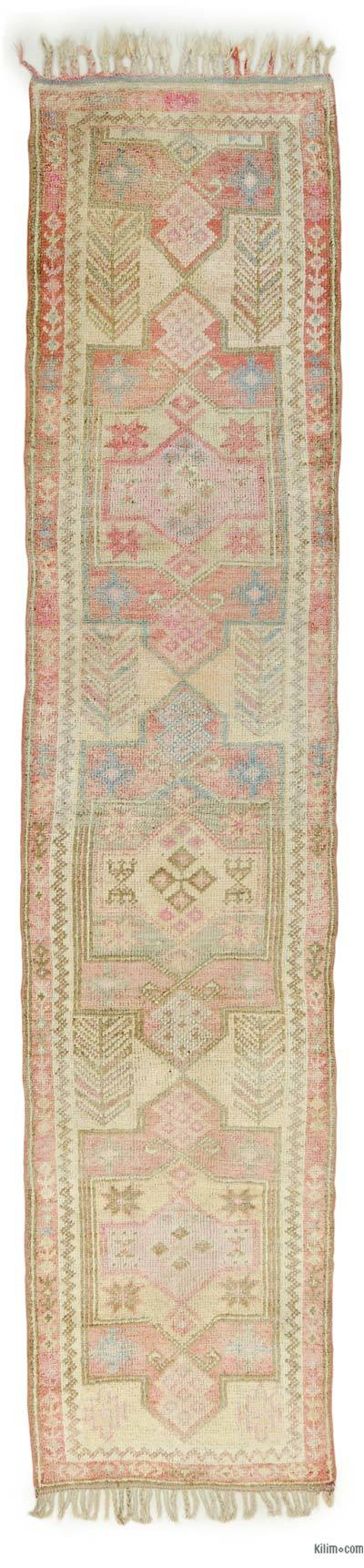 "Vintage Turkish Runner Rug - 2' 10"" x 12' 6"" (34 in. x 150 in.)"