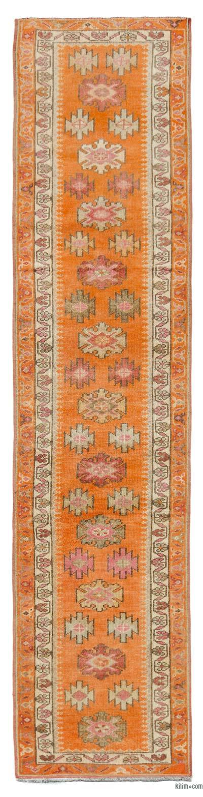 "Vintage Turkish Runner Rug - 2' 11"" x 12' 5"" (35 in. x 149 in.)"