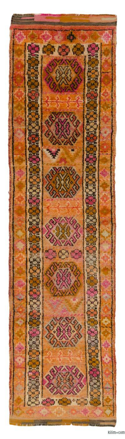 "Vintage Turkish Runner Rug - 2' 9"" x 10' 6"" (33 in. x 126 in.)"
