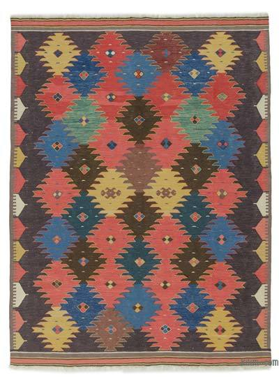 "New Turkish Kilim Rug - 6' 8"" x 8' 11"" (80 in. x 107 in.)"