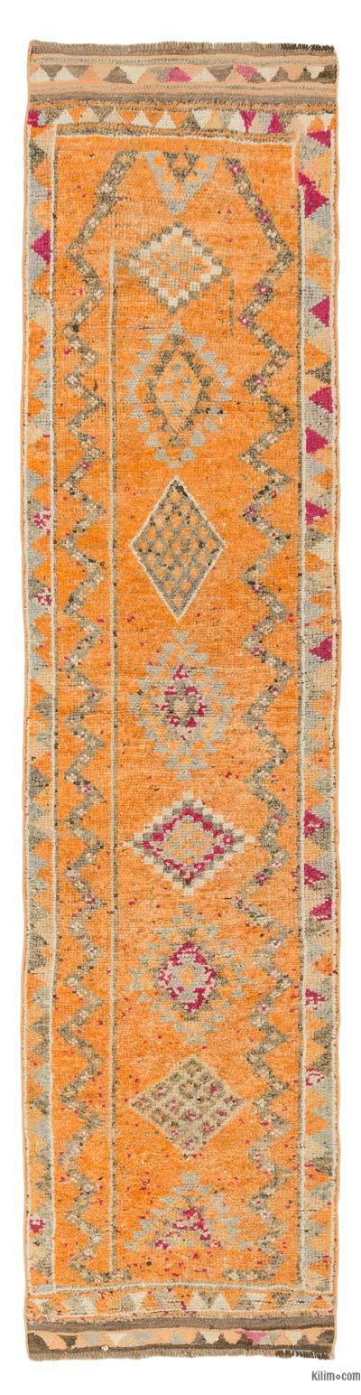 "Vintage Turkish Runner Rug - 2' 11"" x 11' 8"" (35 in. x 140 in.)"