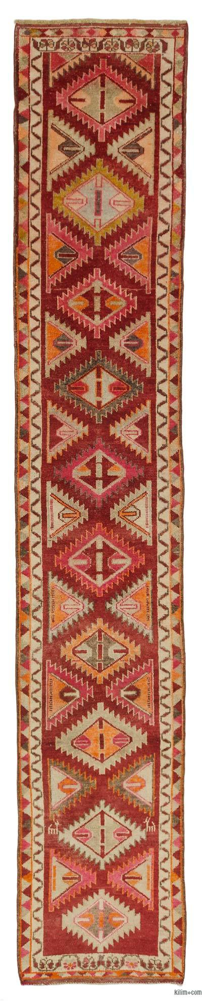 "Vintage Turkish Runner Rug - 2' 10"" x 15' 11"" (34 in. x 191 in.)"