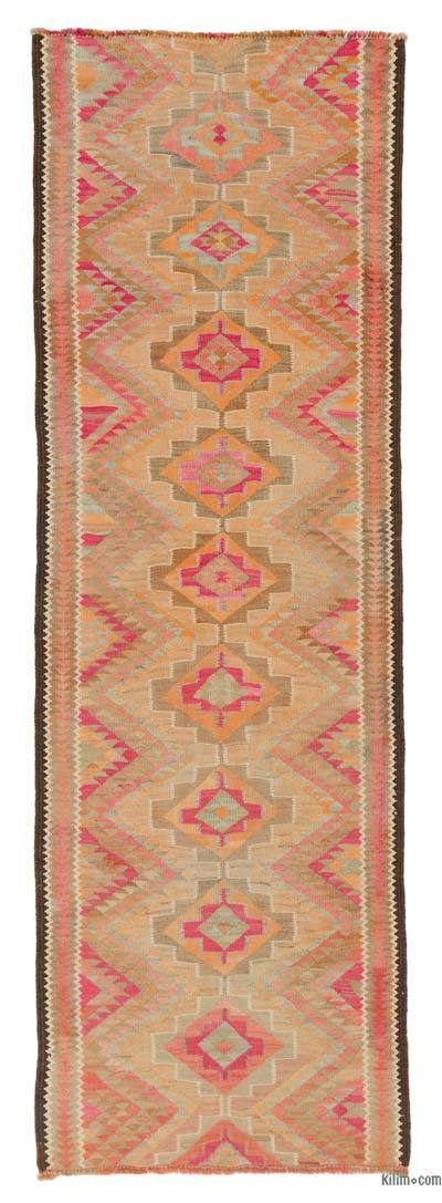 "Vintage Turkish Kilim Runner - 2' 9"" x 8' 6"" (33 in. x 102 in.)"