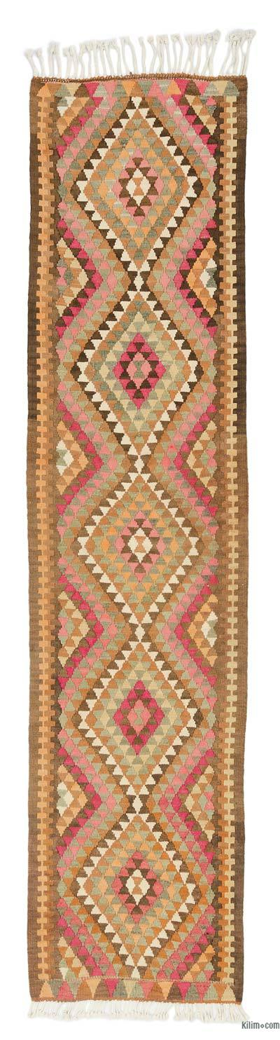 "Vintage Turkish Kilim Runner - 2' 11"" x 11' 11"" (35 in. x 143 in.)"