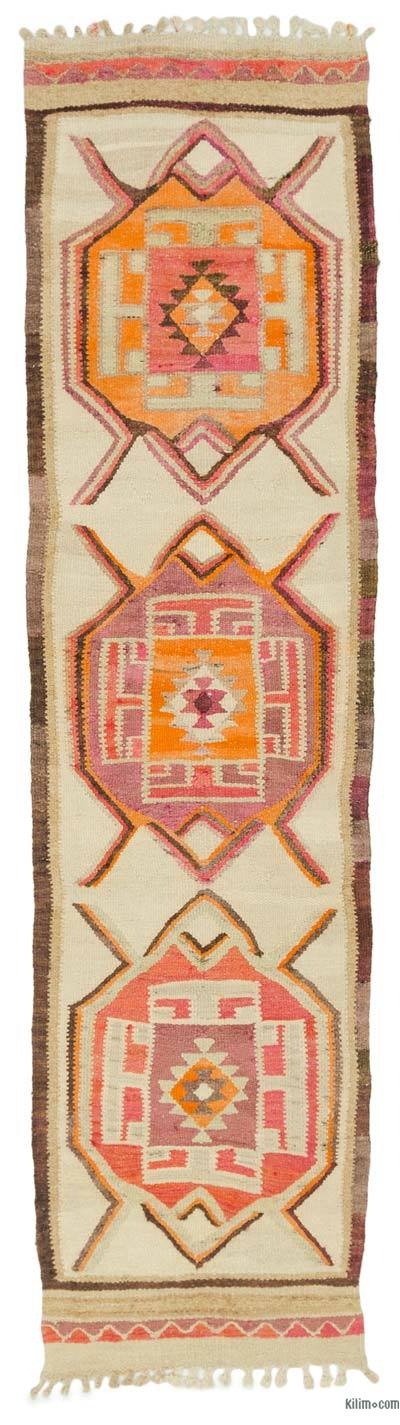 "Vintage Turkish Kilim Runner - 2' 9"" x 10' 7"" (33 in. x 127 in.)"