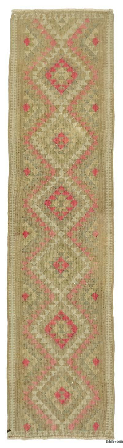 "Vintage Turkish Kilim Runner - 2' 10"" x 11' 4"" (34 in. x 136 in.)"