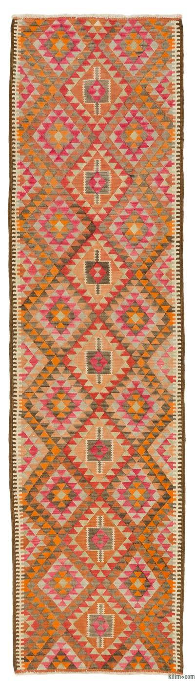 "Vintage Turkish Kilim Runner - 3' 3"" x 12' 2"" (39 in. x 146 in.)"