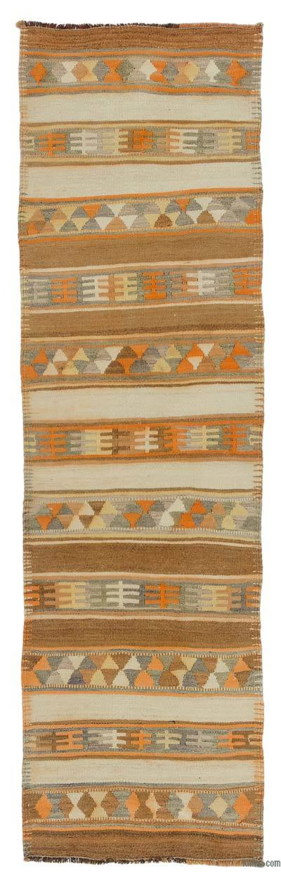 "Vintage Turkish Kilim Runner - 2' 10"" x 9' 6"" (34 in. x 114 in.)"