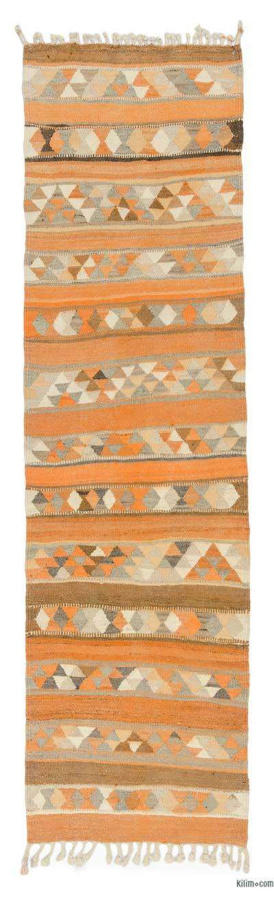 "Vintage Turkish Kilim Runner - 2' 11"" x 10' 8"" (35 in. x 128 in.)"