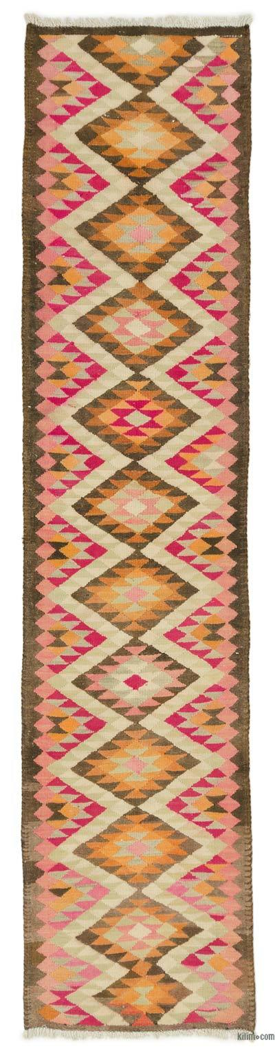 "Vintage Turkish Kilim Runner - 2' 9"" x 11' 7"" (33 in. x 139 in.)"